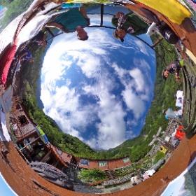北アルプス、岳沢小屋にて。Theta360撮影(^ ^) #theta360