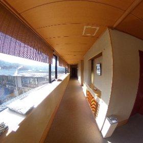 3階廊下。 #theta360