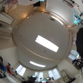 #エアイドル撮影会ぱれお卓 で #ミクシータ。#もくもくドール撮影会 #miku360 #theta360