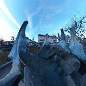 Brunnen am Nanteser Platz #theta360 #theta360de