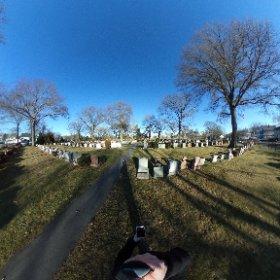 Winthrop Cemetery, Winthrop,  Massachusetts.  #sylviaplath #ottoplath #theta360