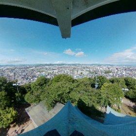 小牧山城(小牧市歴史館)展望台から #theta360