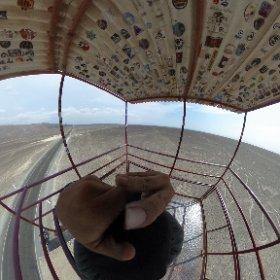 高見台からのナスカの地上絵 #theta360