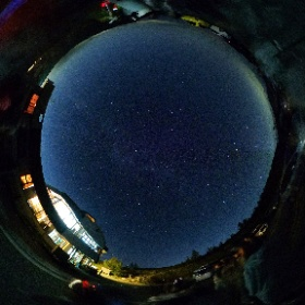 山本小屋ふる里館  駐車場での天体観測