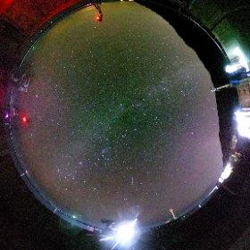 足摺岬の展望台にて... 大晦日の夜は絶好の天体観測日和 空いっぱいに満天の星が輝いていました。 #theta360