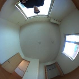 世田谷区等々力の「等々力ハウス」3LDKテラスハウスの2階洋室パノラマ写真です。物件詳細はこちらhttp://www.futabafudousan.com/bukken/g/syousai/746dat.html #theta360