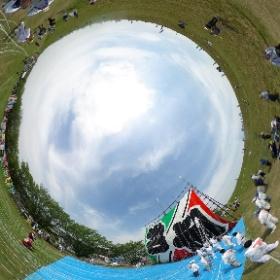 大凧まつり2017/春日部:大凧「平和」 #theta360