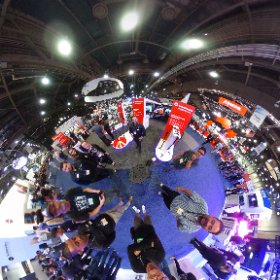 Manfrotto booth at NAB. #theta360