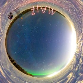 Polarlichter bei 1min Belichtungszeit mit Ricoh Theta S in Schwedisch Lappland mit www.FlorianGerla.ch #theta360 #theta360de