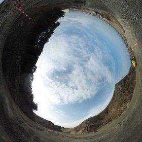 平成27年2月24日 薄磯の高台宅地予定地で撮影した全天球写真です