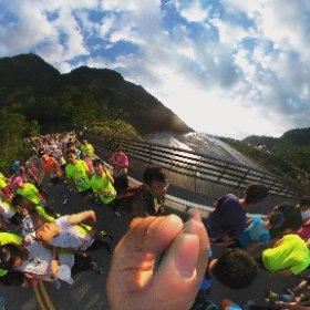 太魯閣馬拉松路跑兼看日出 #theta360