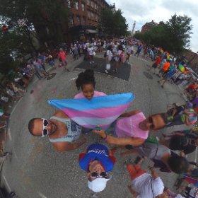 The future is proud. #baltimorepride #TransRespect #Lgbtq #theta360
