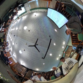 Rosh Hashanah 5777 at Temple Sholom in Monticello with Isaac Assor chanting torah. #theta360