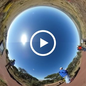 Hiking the crater rim of Capulin Volcano in New Mexico, September 20, 2017. #theta360