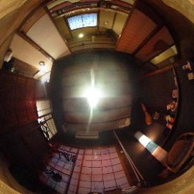 酒蔵角松の奥座敷、別邸「竹庵(ちくあん)」のパノラマビューです。