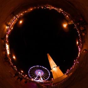 La grande roue et l'obélisque de la Place de la Concorde - Paris #theta360 #theta360fr