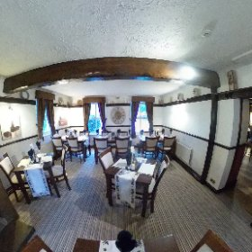 Dining Room, Old Hall Inn and Cottages, Threshfield, Nr Skipton, Yorkshire Dales. #theta360 #theta360uk