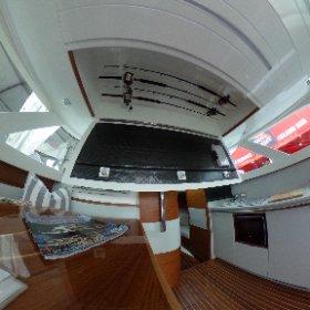 Bertram 35   Interior with Rod Storage Open