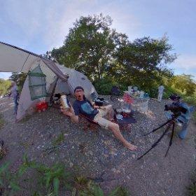 巾着田でキャンプ #theta360