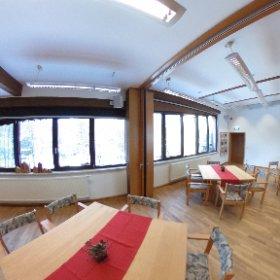 Der große Seminarraum in der Herberge des Naturschutzzentrum bietet nicht nur moderne Medientechnik, er kann neben Seminaren und Vorträgen auch für Feierlichkeiten aller Art genutzt werden. #theta360 #theta360de