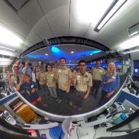 Boy Scouts touring the NBCLA newsroom. #theta360
