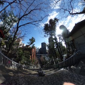 東京都の愛宕神社へ御朱印いただきに行ってきました。出世の階段は下って来ました。 #theta360