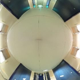 名門大洋フェリー「ふくおかII」ツーリストの船室内 #theta360