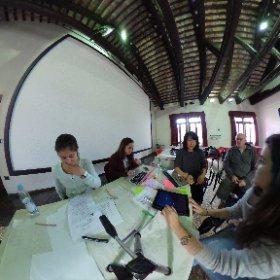 """Preparing final presentations at the """"Senses"""" seminar..."""