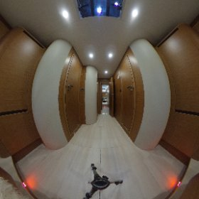 Inside the new sailing yacht Hanse 675, owners luxury cabin. Seen on watersportshow boot Duesseldorf. #theta360 #theta360de