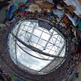 The US Open Tennis Championship from above. #theta360
