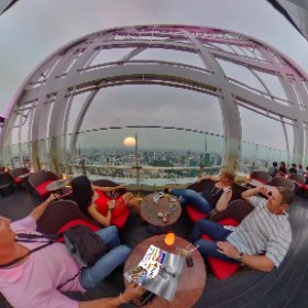 360 spherical RedSky RoofTop 56flrs atop Centara Hotel in the centre of Siam Bangkok SM hub https://goo.gl/1ifUba BEST HASHTAGS #RedSkyBkk  #BkkRooftop  #BkkDining  #butterfly3d #theta360