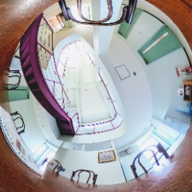 ピュア共有部分です。冷蔵庫・ポットは共用です。吹き抜けの天井もばっちり写っています✌ #theta360