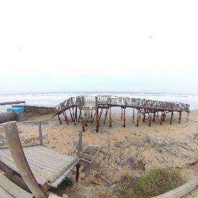 pasarela de madera de Islantilla.... Rubina y desastre #theta360
