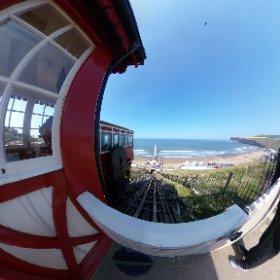 360 view of the Tram Lift at Saltburn #tramlift #redcarcleveland #seaside  #theta360 #theta360uk