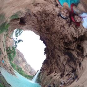 In front of havasupai falls. #theta360