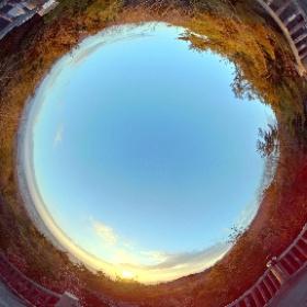 2018.01.01 初日の出 生駒山麓公園・展望台 #theta360
