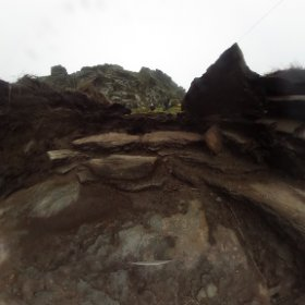 Tintagel Castle - Archaeological Dig - Trench C #theta360 #theta360uk