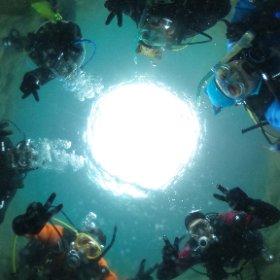 水中集合 #theta360