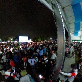 横浜ファンゾーンを全天球カメラで撮影 #ラグビーワールドカップ #ラグビー #RWC2019 #theta360