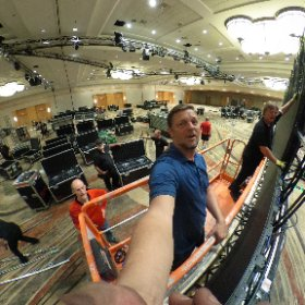 Build the wall. The LED wall starts to go up. Panel by panel. #showproduction  #theta360