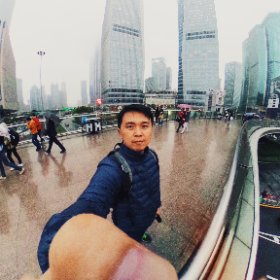 Lujiazui in the rain #rain3d #shanghai #china #theta360