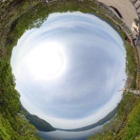北海道 清里町 摩周湖 「裏摩周展望台」 最も有名でお客さんが集まる第一展望台の反対側にある展望台。