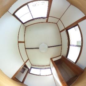 鹿児島市唐湊3丁目 一戸建て貸家の2階洋室その1。5DKⓅ2台つき #theta360