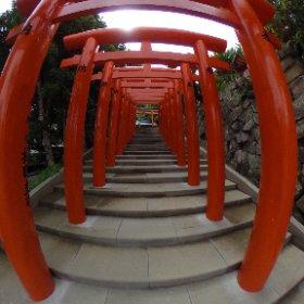 鵜戸稲荷神社の鳥居です。 #theta360
