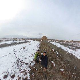 西夏王陵 自撮り棒で上から。 #theta360