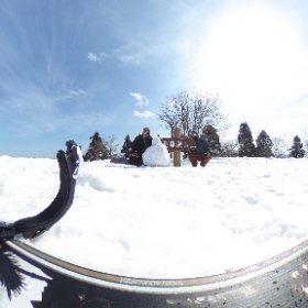 恐羅漢頂上でオヤジボーダー2人景色堪能。 #恐羅漢スノーパーク#スノボ#絶景 #theta360