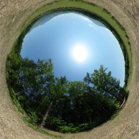 「プレミアサイト」1日1組限定の森の中のキャンプサイト #やすらぎの森オートキャンプ場 #forestofyasuragi #theta360