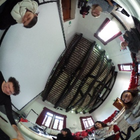 """Student think-tank during """"The Senses-Species Perspectives from Neuroscience and Art"""" seminar on the Island of San Servolo, Venice."""