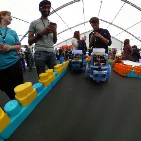 Hull Pixelbot racing at the Radio 1 Academy