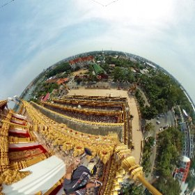 Wat Nong Waeng temple Khon Kaen, a most popular attraction, each floor is decorated with history, 9th for 360 degree rooftop views view of city and lake, SM https://goo.gl/c1nyYr  BEST HASHTAGS #WatNongWaeng  #BkkTemple   #ZoneKhonKaen  #butterfly3d